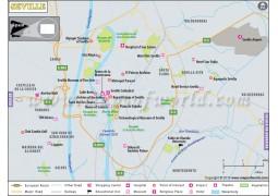 Seville City Map - Digital File
