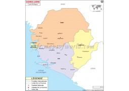 Sierra Leone French Map - Digital File
