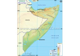 Somalia Physical Map - Digital File