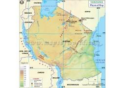 Tanzania Physical Map - Digital File