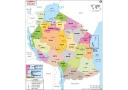 Political Map of Tanzania - Digital File