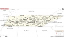 Tennessee Cities Map - Digital File