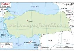 Turkey Outline Map - Digital File