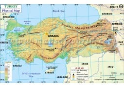 Turkey Physical Map - Digital File
