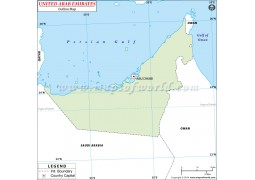 UAE Outline Map