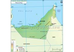 United Arab Emirates Physical Map - Digital File