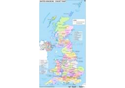 UK County Map - Digital File
