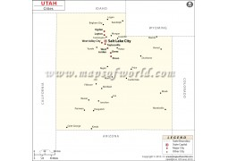 Map of Utah Cities - Digital File