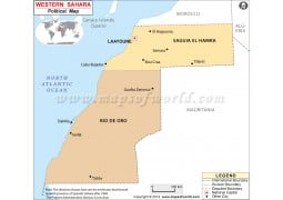 Political Map of Western Sahara