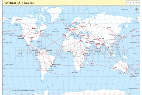 Buy Air Routes Map Of The World