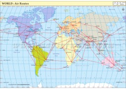 Air Route Map : World - Digital File