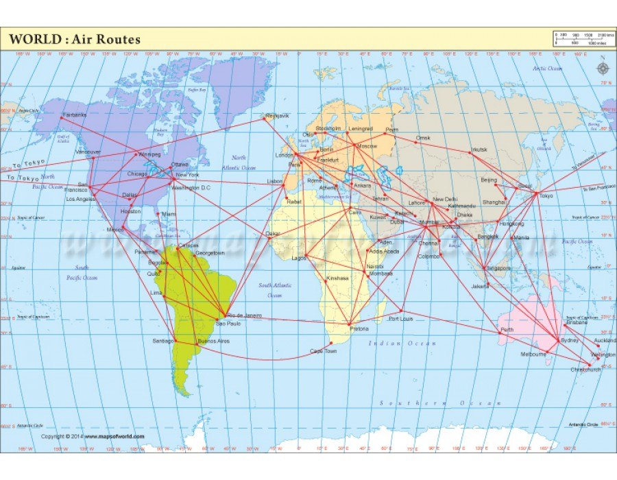 Buy air route map world air route map world gumiabroncs Image collections