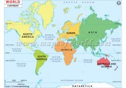 World Continent Map