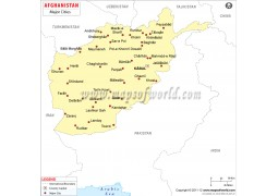 Afghanistan Cities Map - Digital File
