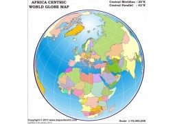 Africa Centric World Globe Map