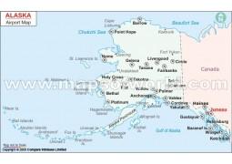 Alaska Airports Map - Digital File