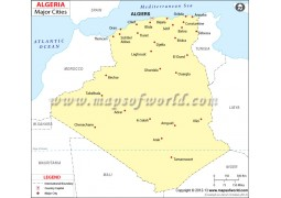 Algeria Map with Cities - Digital File
