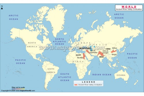 World Map - River Valley Civilizations