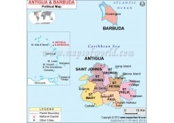 Political Map of Antigua and Barbuda - Digital File