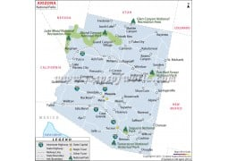 Map of Arizona National Parks