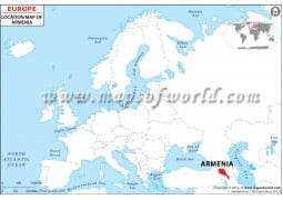Armenia Location Map - Digital File