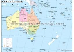 Australia Continent Map - Digital File