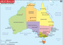 Australia Travel Map - Digital File