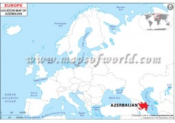 Azerbaijan Location Map - Digital File