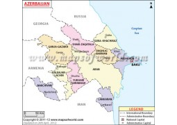 Azerbaijan Map - Digital File