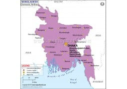 Bangladesh Domestic Airlines & Headquarters Map