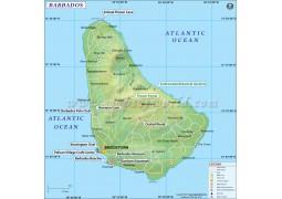 Map of Barbados - Digital File