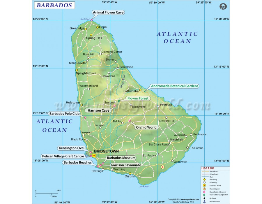 Buy Map of Barbados