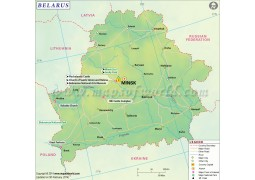 Belarus Map - Digital File
