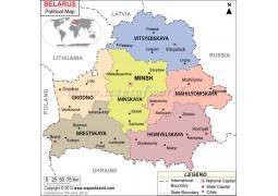 Political Map of Belarus - Digital File