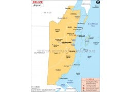 Belize Airports Map