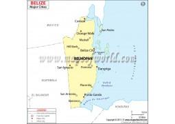 Belize Cities Map