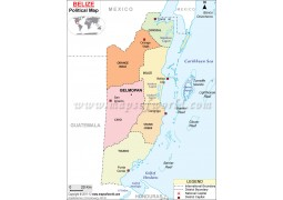 Political Map of Belize