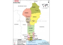 Political Map of Benin - Digital File