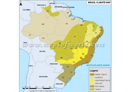 Brazil Climate Map - Digital File