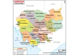 Political Map of Cambodia - Digital File