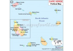 Political Map of Cape Verde - Digital File