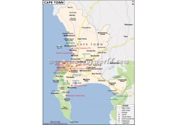 Cape Town City Map - Digital File