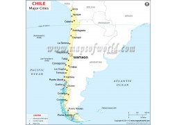 Map of Chile with Cities - Digital File