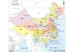 China Map in Chinese (中国地图) - Digital File
