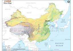 China River Map - Digital File