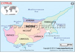 CyprusPolitical Map - Digital File