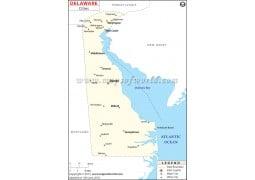 Delaware Cities Map - Digital File