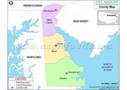 Delaware County Map - Digital File