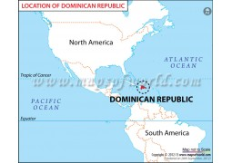 Dominican Republic Location Map