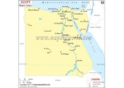 Egypt Map withCities - Digital File